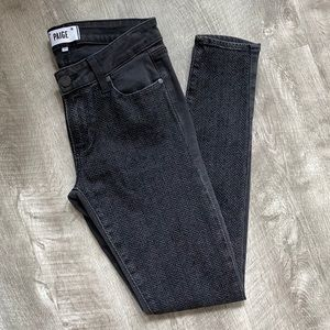 RARE Paige Jeans Denim Gray Emily Ultra Skinny 27